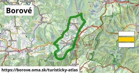 ikona Turistická mapa turisticky-atlas  borove