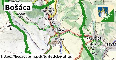 ikona Turistická mapa turisticky-atlas  bosaca