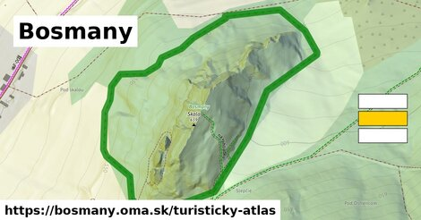 ikona Turistická mapa turisticky-atlas  bosmany