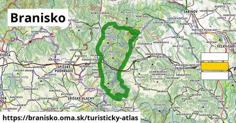 ikona Turistická mapa turisticky-atlas  branisko