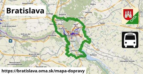 ikona Bratislava: 4,05tisíckm trás mapa-dopravy  bratislava
