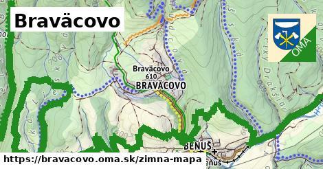 ikona Braväcovo: 5,9km trás zimna-mapa  bravacovo