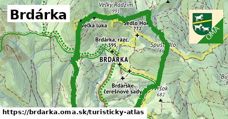 ikona Turistická mapa turisticky-atlas  brdarka