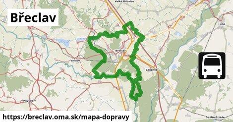 ikona Břeclav: 243km trás mapa-dopravy  breclav
