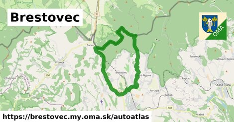 ikona Mapa autoatlas  brestovec.my