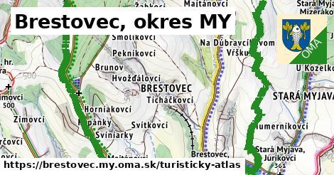 ikona Turistická mapa turisticky-atlas  brestovec.my