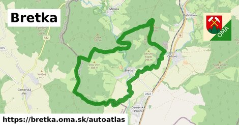 ikona Mapa autoatlas  bretka