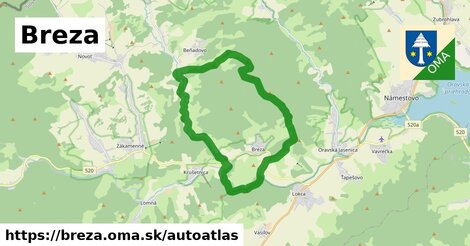 ikona Mapa autoatlas  breza