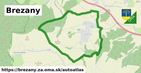 ikona Mapa autoatlas  brezany.za