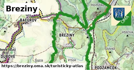ikona Turistická mapa turisticky-atlas  breziny