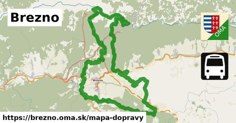 ikona Brezno: 44km trás mapa-dopravy  brezno