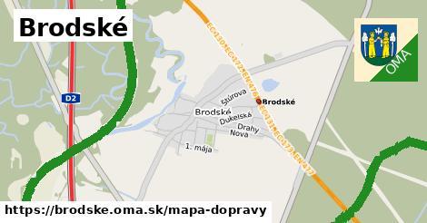 ikona Brodské: 19km trás mapa-dopravy  brodske