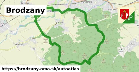 ikona Mapa autoatlas  brodzany