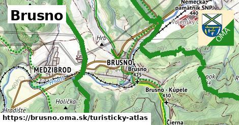 ikona Brusno: 3,0km trás turisticky-atlas  brusno