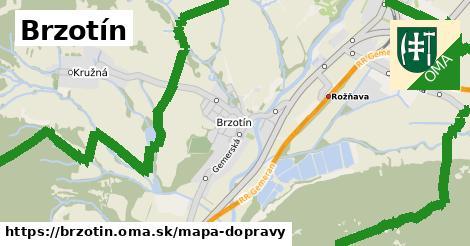 ikona Brzotín: 6,9km trás mapa-dopravy  brzotin