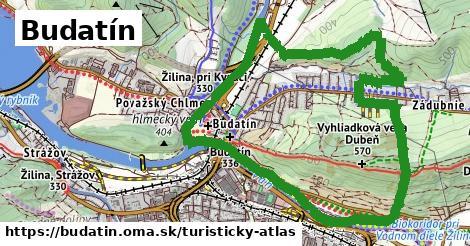 ikona Turistická mapa turisticky-atlas  budatin