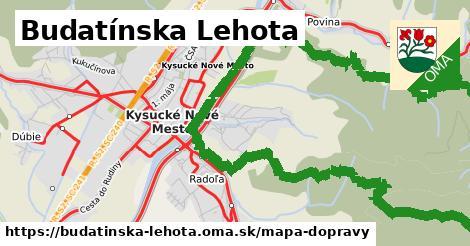 ikona Budatínska Lehota: 29km trás mapa-dopravy  budatinska-lehota