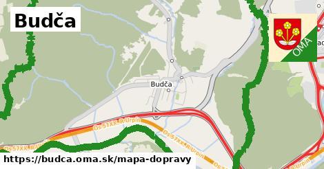 ikona Budča: 6,4km trás mapa-dopravy  budca