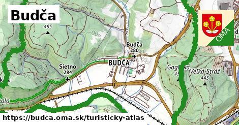 ikona Budča: 9,8km trás turisticky-atlas  budca