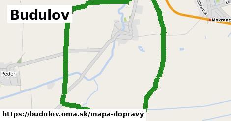 ikona Budulov: 0m trás mapa-dopravy v budulov