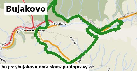 ikona Bujakovo: 8,3km trás mapa-dopravy v bujakovo