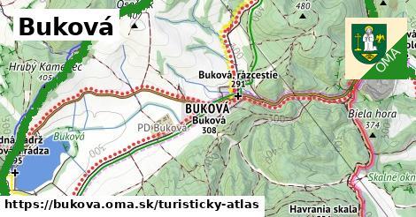 ikona Buková: 61km trás turisticky-atlas  bukova