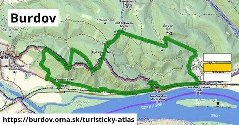 ikona Turistická mapa turisticky-atlas  burdov