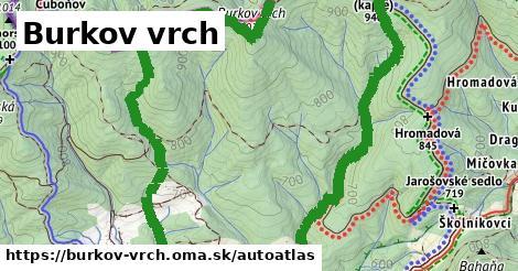 ikona Mapa autoatlas  burkov-vrch