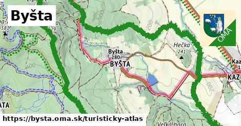 ikona Byšta: 21km trás turisticky-atlas  bysta