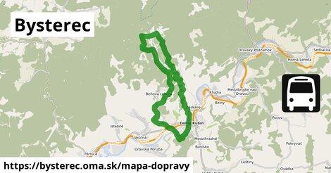 ikona Bysterec: 4,7km trás mapa-dopravy  bysterec