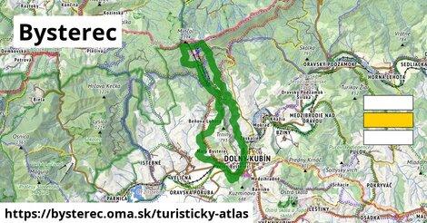 ikona Bysterec: 8,8km trás turisticky-atlas  bysterec