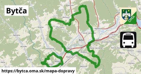ikona Bytča: 10,0km trás mapa-dopravy  bytca