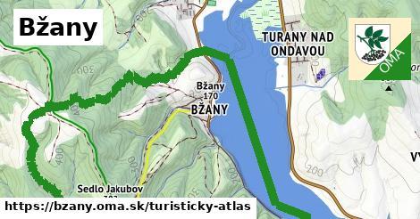 ikona Bžany: 16km trás turisticky-atlas  bzany