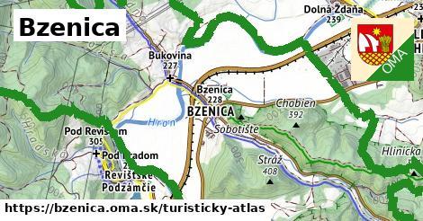 ikona Bzenica: 6,4km trás turisticky-atlas  bzenica