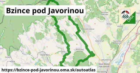 ikona Mapa autoatlas  bzince-pod-javorinou