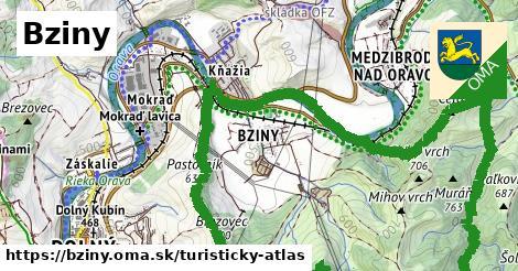ikona Turistická mapa turisticky-atlas  bziny