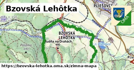 ikona Bzovská Lehôtka: 2,8km trás zimna-mapa  bzovska-lehotka