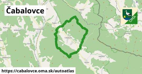 ikona Mapa autoatlas  cabalovce