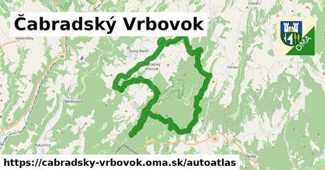 ikona Mapa autoatlas  cabradsky-vrbovok