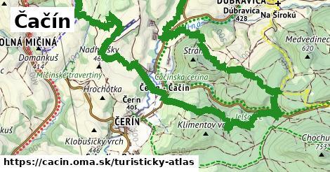 ikona Turistická mapa turisticky-atlas  cacin