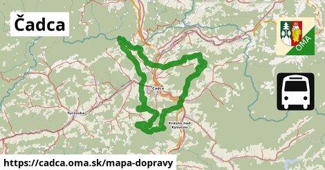 ikona Čadca: 3,5km trás mapa-dopravy  cadca