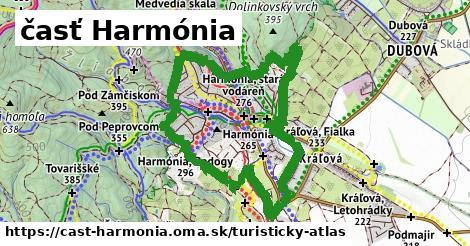 ikona časť Harmónia: 5,1km trás turisticky-atlas v cast-harmonia