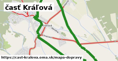 ikona časť Kráľová: 41km trás mapa-dopravy v cast-kralova