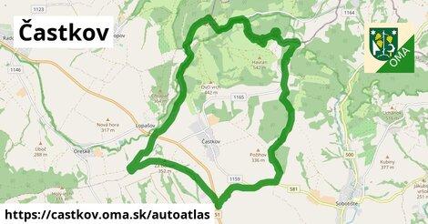 ikona Mapa autoatlas  castkov