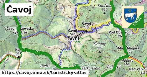 ikona Turistická mapa turisticky-atlas  cavoj