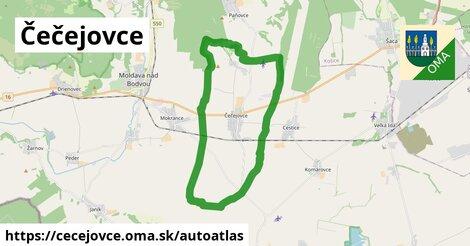 ikona Mapa autoatlas  cecejovce