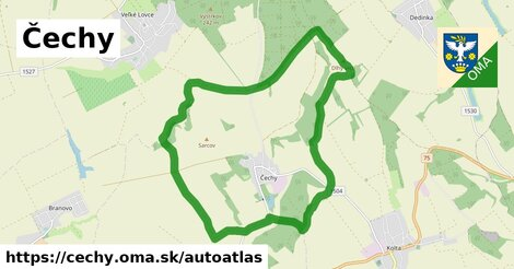 ikona Mapa autoatlas  cechy