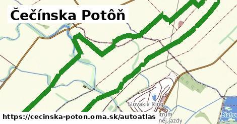 ikona Mapa autoatlas  cecinska-poton