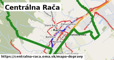 ikona Centrálna Rača: 181km trás mapa-dopravy  centralna-raca