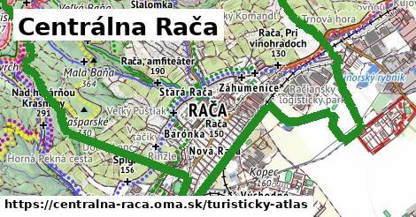 ikona Centrálna Rača: 28km trás turisticky-atlas  centralna-raca